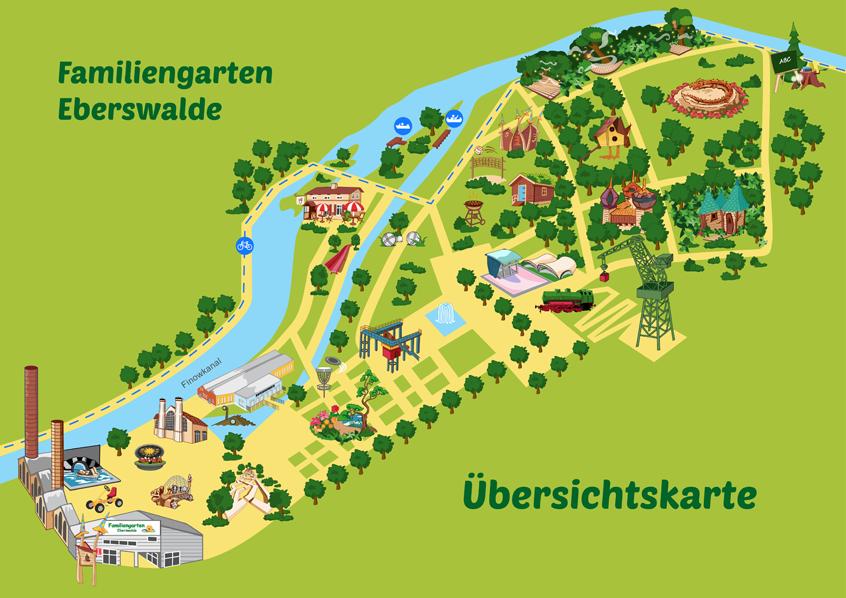 Plan sytuacyjny Familiengarten